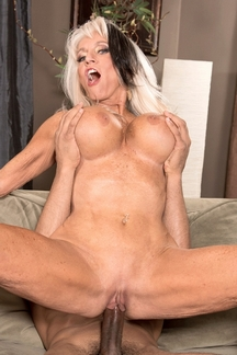 Sexy senior Sally D'Angelo returns to 60PlusMILFs.Com for more hardcore pussy pounding action
