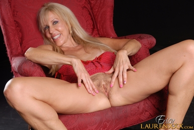 Lusty Mature sex star Erica Lauren performing at her personal hardcore website