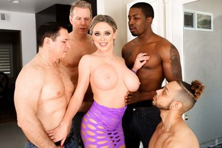 Sexy cougar Dee Williams brings her lustful desires to a hot new gang bang scene at lewood.com