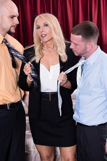 Chery Leigh is a super sexy MILF taking on two studs at 50PlusMILFs.Com