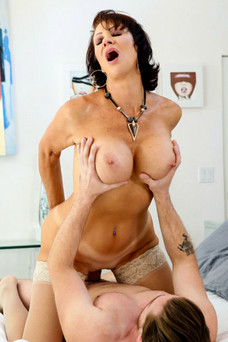 Alluring over 50 milf porn star Vanessa Videl fucks at seducedbyacougar.com
