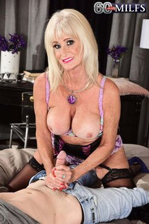 Horny newcomer Leah L'Amour is a lusty granny ready for hot sex