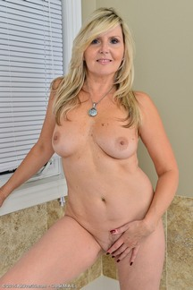 Super sexy MILF Velvet Skye stripping at allover30.com