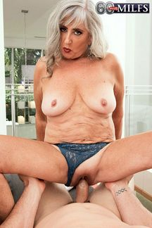 Lusty amateur Silva Foxx is a horny first timer at 60PlusMILFs.Com