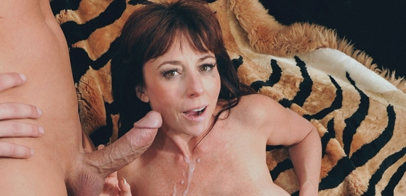 Sexy mature porn slut Karen Kougar takes a big dick fucking in Nasty Grannies