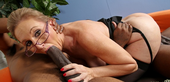 Jenna Covelli gets her horny holes stuffed with black cock at blacksoncougars.com