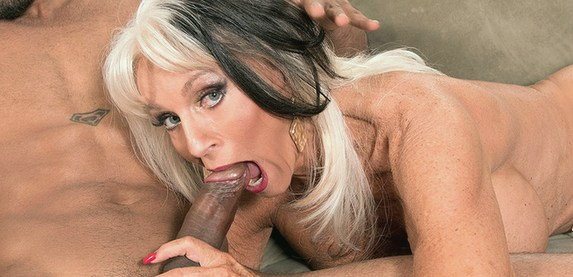 Sally D'Angelo takes her first big black cock at 60PlusMILFs.Com