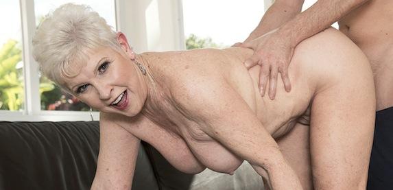 Senior sex star Jewel is a lusty granny wanting hard dick at 60PlusMILFs.Com