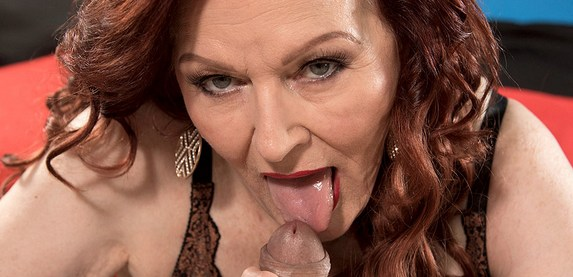 Sexy granny Katherine Merlot is an expert cock sucker at 60PlusMILFs.Com