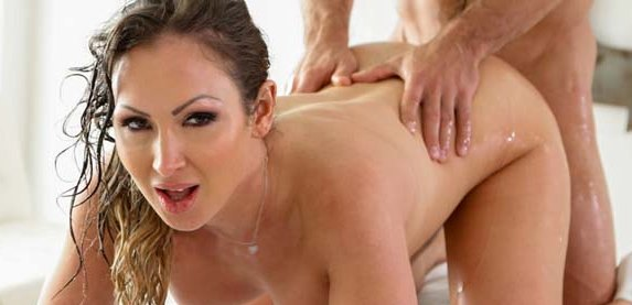 Horny MILF debutante Yasmin Scott gets a big dick massage at puremature.com