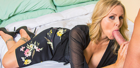 Hot mom Julia Ann takes a young hung stud into her bed at myfriendshotmom.com