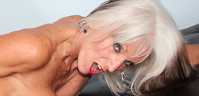 Over sixty porn star Sally D'Angelo in hardcore action at familylust.com